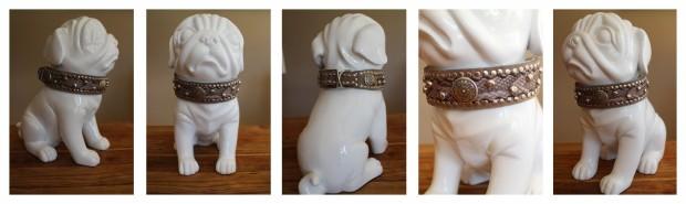 Hundehalsband mit Nieten